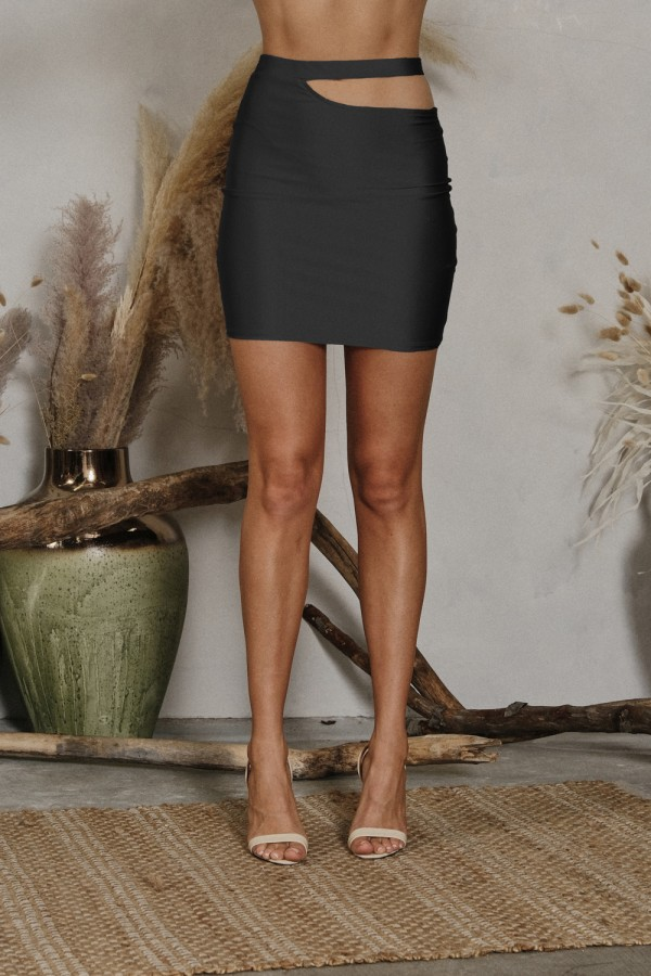 DNS1264<br/>SIDE CUT OUT MINI SKIRT